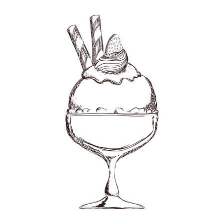 Delicious ice cream icon vector illustration graphic design.