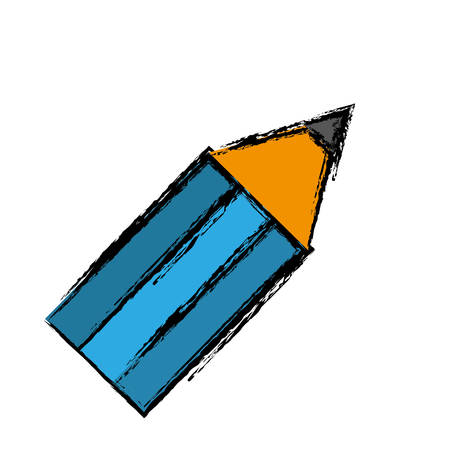 secretarial: Pencil icon over white background. vector illustration