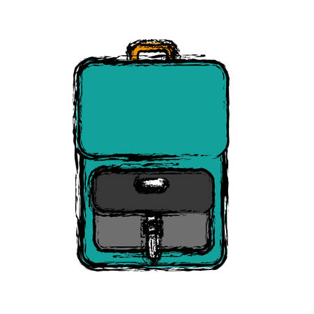 literature: Backpack icon. back to school concept.  vector illustration
