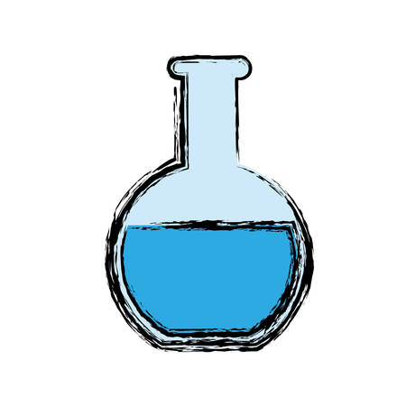poison: Chemical flask icon over white background. vector illustration