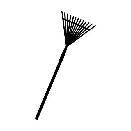 fork icon over white background. gardening equipment concept. vector illustration