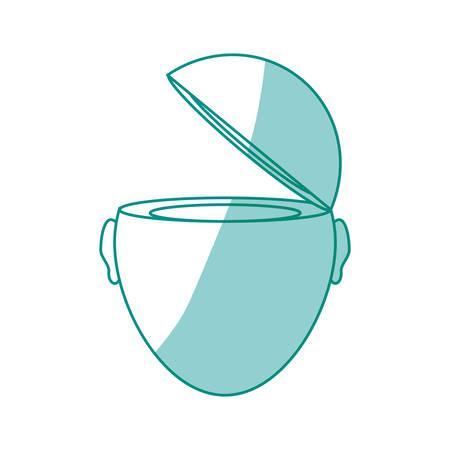 man profile: Open mind person icon vector illustration graphic design Illustration