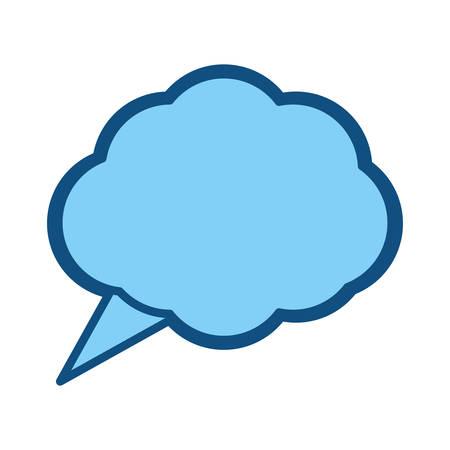 halfone: Think bubble symbol icon vector illustration graphic design