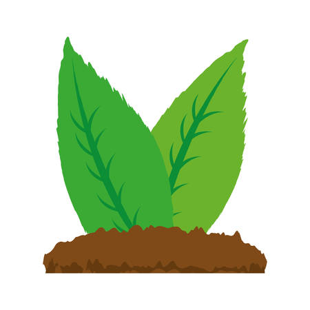 Leaves natural ecology icon vector illustration graphic design Illustration