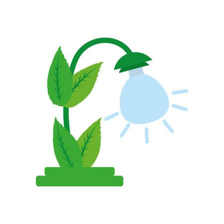 Green energy light icon vector illustration graphic design