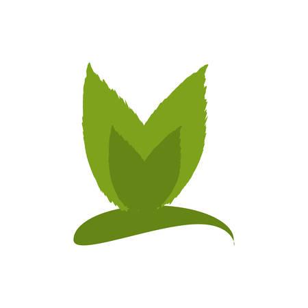 turismo ecologico: Deja el icono de la ecología natural de ilustración vectorial diseño gráfico Vectores