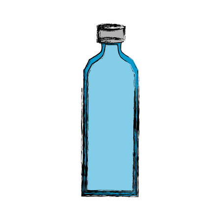 discarded: Empty plastic bottle icon vector illustration graphic design Illustration
