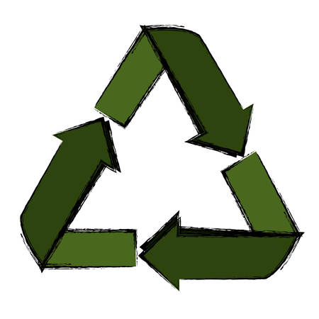 basura organica: Recycle reduce and reuse icon vector illustration graphic design