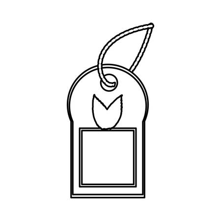 aching: Ecology label tag icon vector illustration graphic design