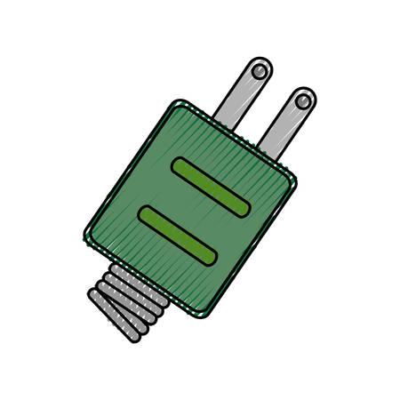 contamination: Green energy light icon vector illustration graphic design