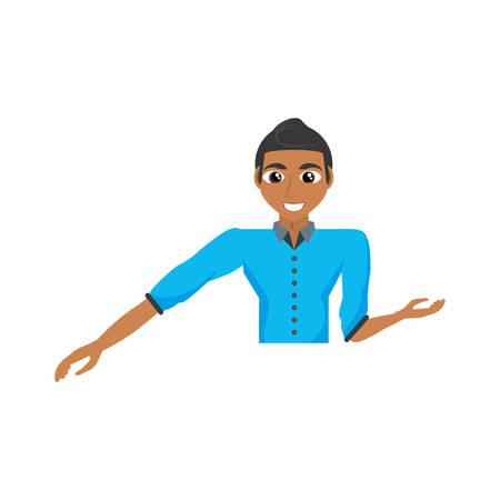hapiness: Man celebrating cartoon icon vector illustration graphic design