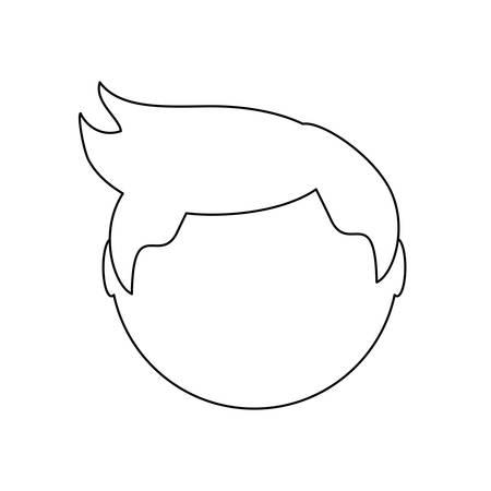 man profile: Male faceless head icon vector illustration graphic design