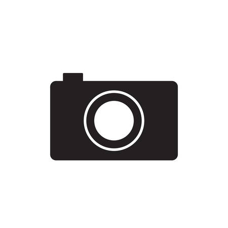 old photograph: photographic camera icon over white background. vector illustration