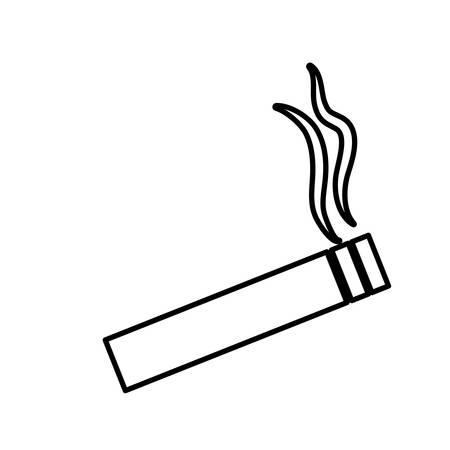 Zigaretten-Symbol auf weißem Hintergrund. Vektor-Illustration