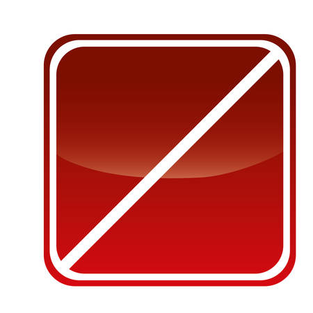 blank forbidden in square shape sign icon over white background. colorful design. vector illustration
