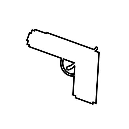 dangerous: gun weapon icon over white background. vector illustration