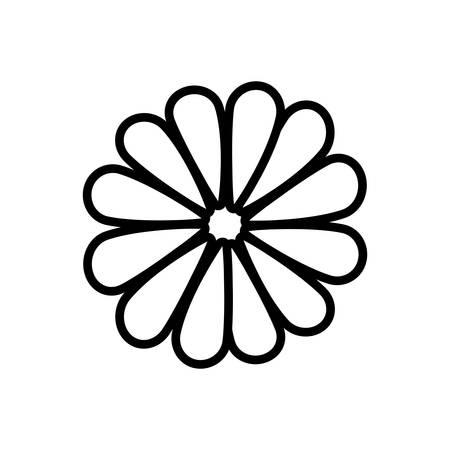 textiles: Flower blossom flat icon vector illustration design