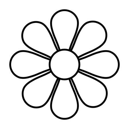 flor de la flor plana icono de ilustración vectorial de diseño