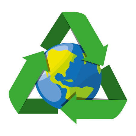 recycling symbol for the planet conservation, vector illustration