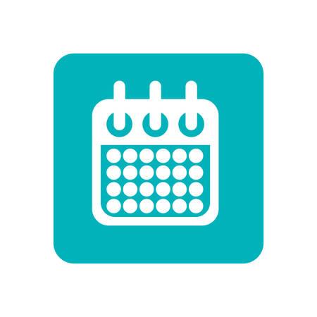 Calendar event date flat vector illustration design
