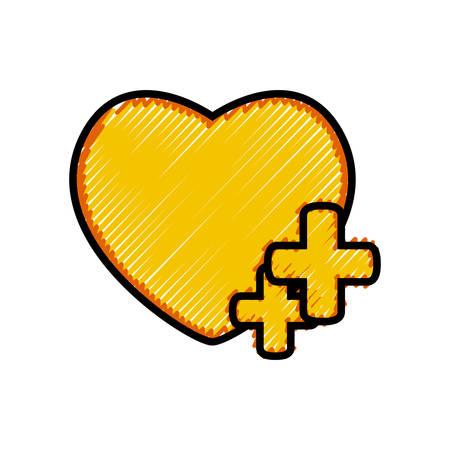 Heart social media symbol flat vector illustration design