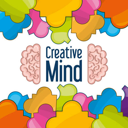 brain icon knowledge and creativity, vector illustration Illustration