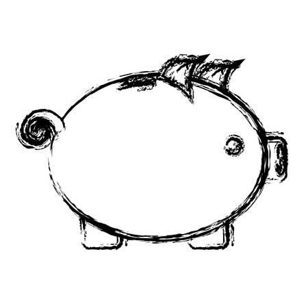 piggy bank icon over white background. vector illustration