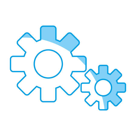 Gears wheels icon over white background. vector illustration