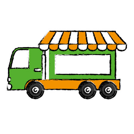 store truck icon over white background. vector illustration