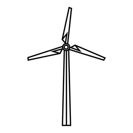 eolic: Eolic turbine icon over white background. vector illustration