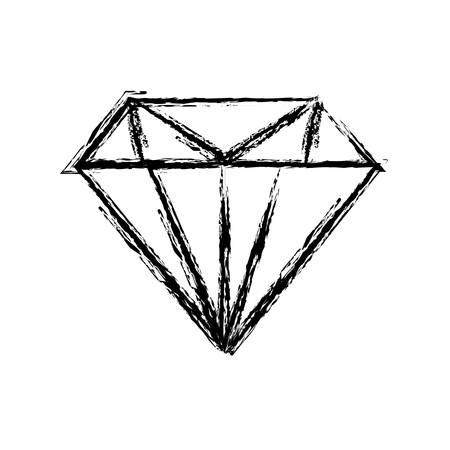 diamond gem icon over white background. vector illustration