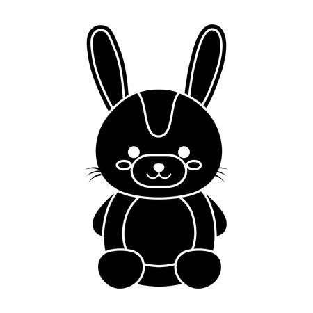 kawaii bunny animal icon over white background. vector illustration