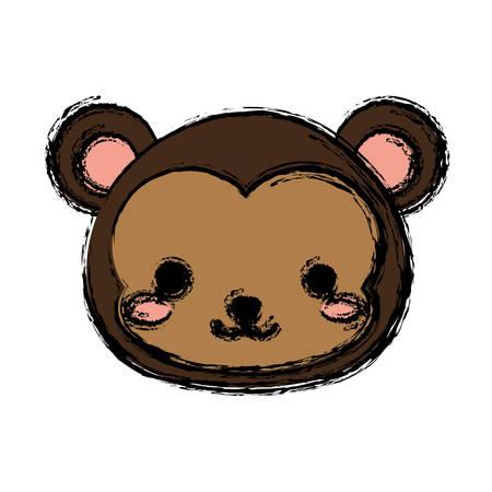 monkey animal icon over white background. vector illustration Illustration