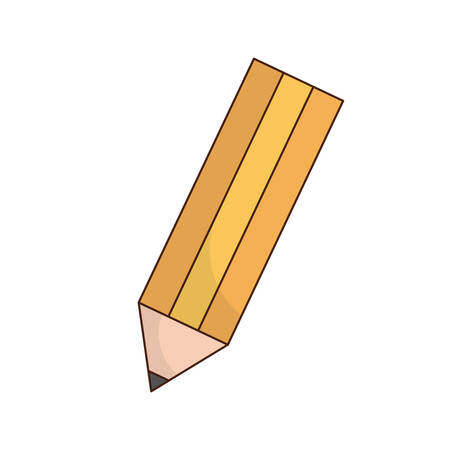 Pencil icon over white background. vector illustration