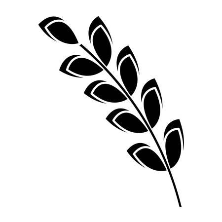 rye: wheat ears icon over white background. vector illustration Illustration