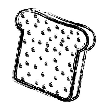 loaf: loaf slice icon over white background. bakery products concept. vector illustration