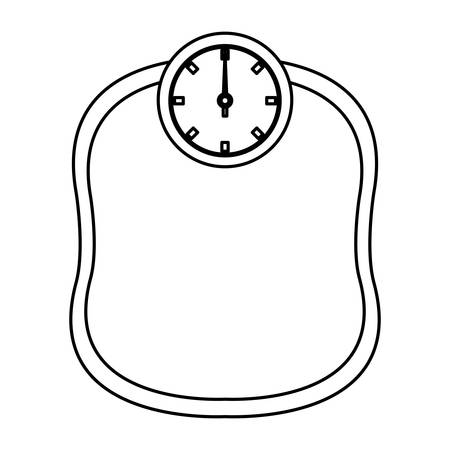Weight scale icon over white background. Illustration