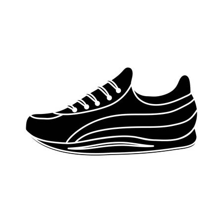 Sport shoe icon over white background. Illustration