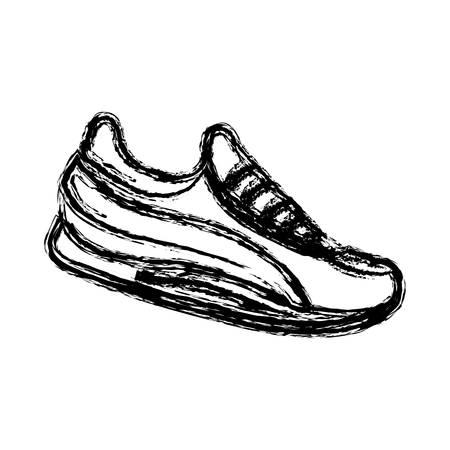 sports shoe icon over white background. vector illustration Illustration