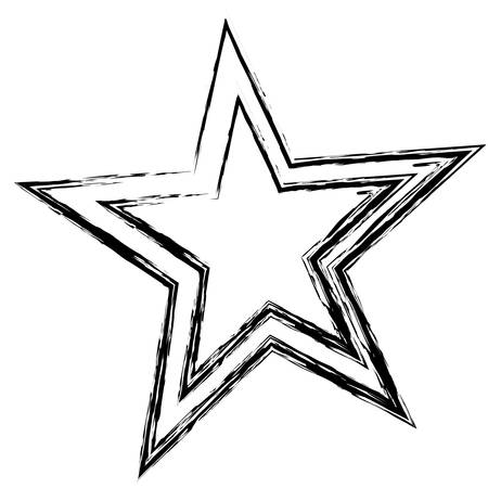 star icon over white background. vector illustration Illustration