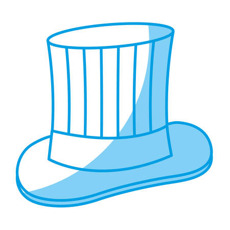 warm cloth: top hat icon over white background. vector illustration