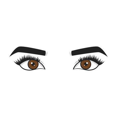 woman eyes  icon over white background. vector illustration Illustration