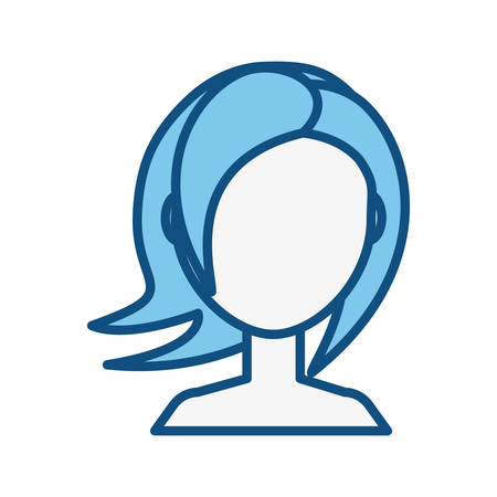 Woman faceless head icon vector illustration graphic design Illustration