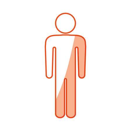 display problem: Human symbol pictogram icon vector illustration graphic design