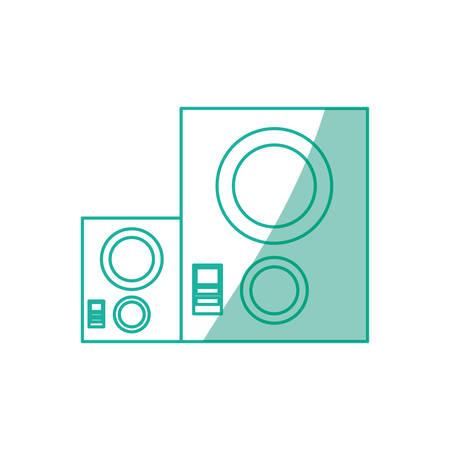 music baffle speaker icon vector illustration graphic design Illustration