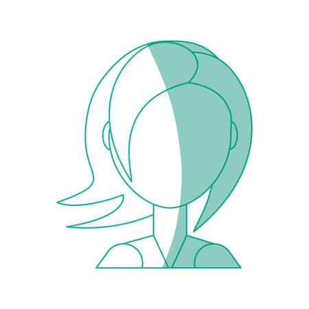 Woman faceless head icon vector illustration graphic design. Illustration