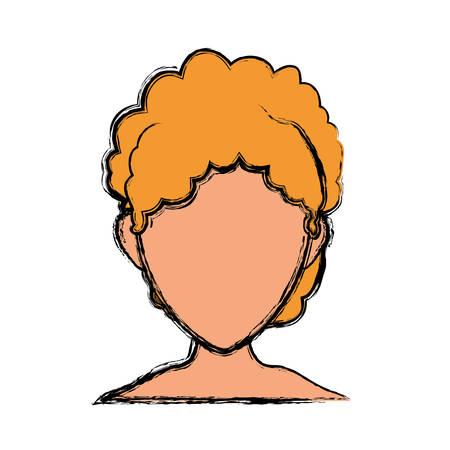 blondie: Woman faceless head icon vector illustration graphic design Illustration