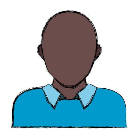 Male faceless head icon vector illustration graphic design