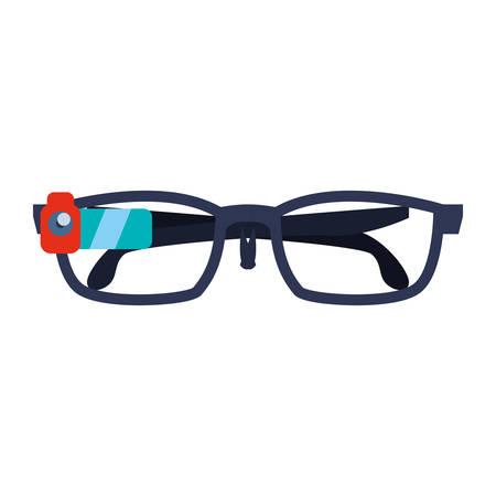 Smart glasses technology icon vector illustration graphic design