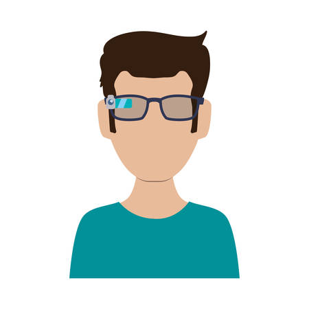 eyewear: Smart glasses technology icon vector illustration graphic design